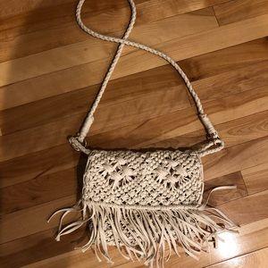 Woven Crossbody Fringe Bag
